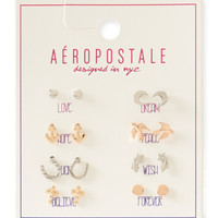 Aeropostale  Inspiration Stud Earring 8-Pack