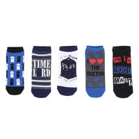 Doctor Who Sketch No-Show Socks 5 Pair