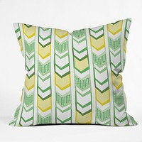 Heather Dutton Right Direction Lemon Lime Outdoor Throw Pillow