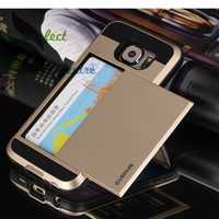 Armor Phone Case For Samsung Galaxy S6 w/ Card Slider