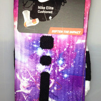 Custom Astronaut Galaxy Vibrant Colors Nike Elite Socks