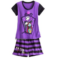 Licensed cool THE NIGHTMARE BEFORE CHRISTMAS Jack Sally Short PJS PAJAMAS WOMEN DISNEY STORE