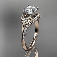 AMAZING 1.15CT WHITE ROUND STUD 925 STERLING SILVER ENGAGEMENT AND WEDDING RING