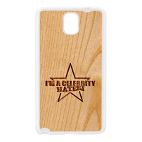Carved on Wood Effect_Celebrity Hater White Silicon Rubber Case for Galaxy Note 3 by Chargrilled