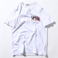 Sea Summer Hip-hop Vintage Short Sleeve T-shirts [10713509315]