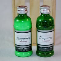 Salt and Pepper Shaker Upcycled from Tanqueray Mini Gin Bottles
