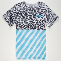Mowgli Surf The Competition Mens T-Shirt Black/Blue  In Sizes