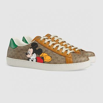 Gucci Brown Beige board shoes