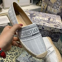Christian Dior Embroidered Jacquard Pattern Ladies Casual Lazy Shoes Casual Shoes
