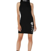 Legendary Embroidered Bodycon Dress