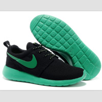 """NIKE"" roshe Trending Fashion Casual Sports A Simple yet Powerful Style Nike Shoes Black (green hook soles)"