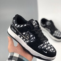 Dior x Nike Sb Dunk Low casual sneakers all-match skateboarding shoes