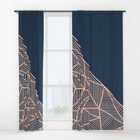 B Rays Geo 1 Window Curtains by Fimbis