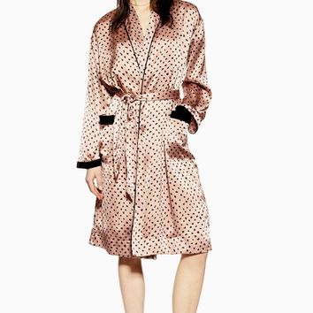 Animal Velvet Robe | Topshop