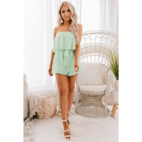Spring Crush Sleeveless Romper (Mint)