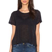 LNA Glasser Swing Tee in Vintage Black