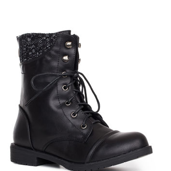 Carefree Sweater Boots - Black