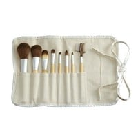 Eco Chic 8-Piece Makeup Brush Set