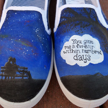 The Fault In Our Stars Custom Painted Shoes