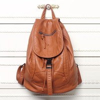School Backpacks for kids for college High-grade Leather