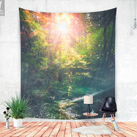 Just breathe - wall tapestry - Lovely bohemian - popular - wanderlust style wall decor for every wall. Pure nature adventure. Lovely bohemia