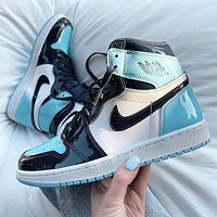 Air Jordan 1 Retro AJ1 High Top Painted Sports Basketball Shoes