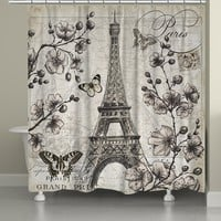 Paris in Bloom Shower Curtain