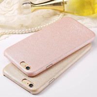 6S Luxury Ultra Thin Silk PU Leather Case For iPhone 6 6S 4.7 Inch Soft Feeling Phone Back Cover For iPhone 6 S Case Coque