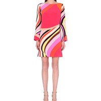EMILIO PUCCI - Abstract-print silk tunic dress | Selfridges.com