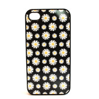 Black and White Daisies Phone Case
