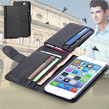 Fold Wallet leather case for iPhone 6 6 Plus 5 5s 5c 4 4s/Samsung Galaxy S5 S6 S6 Edge Note4/ LG G3 G4 NEXUS 5/HTC M9 = 1958124100