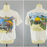 1990s Vintage / The Allman Brothers Band / Original Concert Shirt / 1969 - 1999 30th Anniversary Tour / Road Goes On Forever / Size Large
