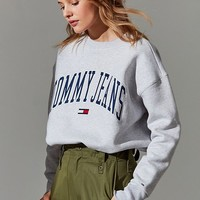 Tommy Jeans Collegiate Crew-Neck Sweatshirt | Urban Outfitters