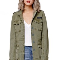 Gypsy Warrior Military Jacket - Womens Jacket - Green