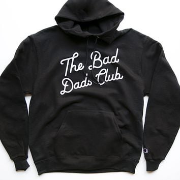 BAD DADS CLASSIC TILT CHAMPION HOODIE- BLACK
