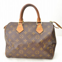 Vintage Louis Vuitton Speedy 25 Monogram Canvas Duffle Handbag