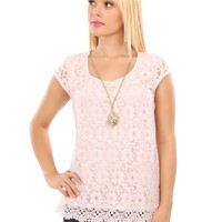 Preppy Lace Embroidered Blouse