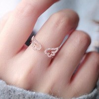 Gift Jewelry Shiny New Arrival Korean Stylish Accessory Lovely Ladies Ring (With Thanksgiving&Christmas Gift Box)[6586148167]