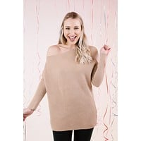 Lookout Mountain Bat Wing Sweater, Taupe