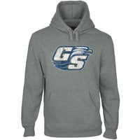 Georgia Southern Eagles Distressed Secondary Pullover Hoodie - Gunmetal