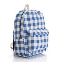 Stripes Animal Korean Striped Cute Canvas Lovely Floral Plaid Backpack = 4888060548