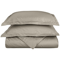 Simple Luxury 600 Thread Count Cotton Rich Solid Duvet Cover Set