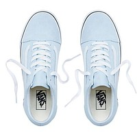 Vans Stylish Simple Leisure Canvas Old Skool Flats Sneakers Sport Shoes Light Blue I