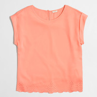 Factory scalloped-hem top : Blouses & Tees | J.Crew Factory