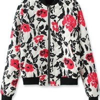 Lovely Floral Quilting Jacket - OASAP.com
