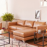 Chamberlin Recycled Leather Sectional Sofa | Urban Outfitters