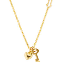 Marc by Marc Jacobs Jewelry Women's Locked Bow Tie Necklace - Pink