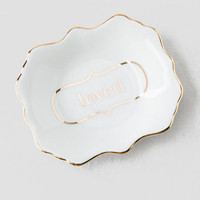 Loved Gold Scalloped Tray