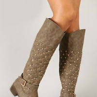 Winter in the Swiss Alps Studded Boots