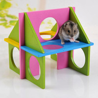 1PC Pet Rat Toy Mouse Rat Hamster Toy Wooden Funny Natural Gym Playground Exercise Safe Training Play Toys